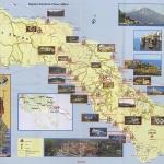 Карта Афона с монастырями